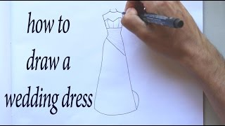 How to Draw a Wedding Dress Design