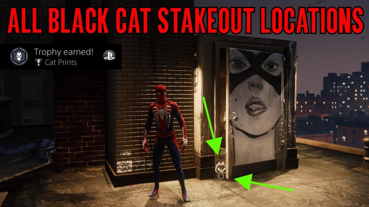marvel's spider-man 2018 🕸 cat prints trophy guide 🕸 (all black