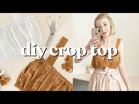 DIY Gathered Crop Top