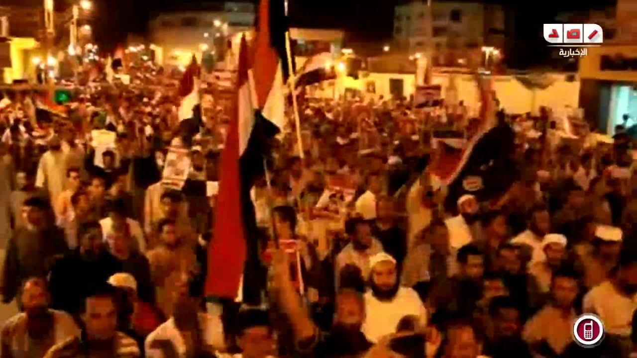 مسيرات حاشدة رافضة للانقلاب العسكري بقنا