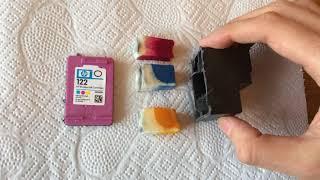 где вся краска?! Трепанация картриджа для струйного принтера HP 122 deskjet цветной