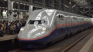 【E4系Maxラストラン】団体臨時列車「サンキューMaxとき」回送 新潟駅発車(2021.10.17)