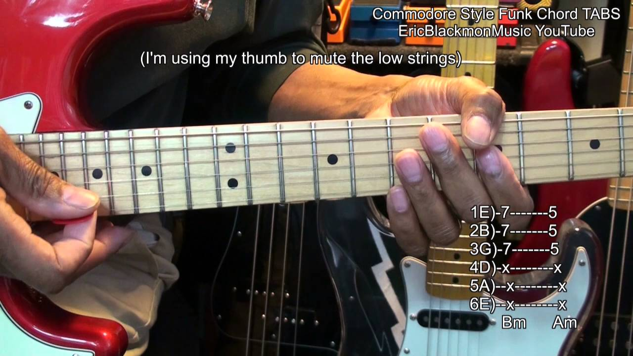 Commodores Brick Style Chord Tabs Funk Guitar Lesson