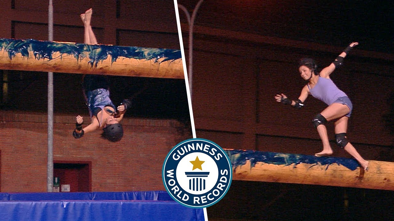 Fastest time to cross a greased pole - Guinness World Records