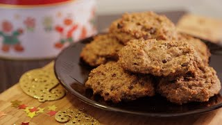 Almond Butter & Dark Chocolate Cookie Recipe: Christmas Cookie Countdown