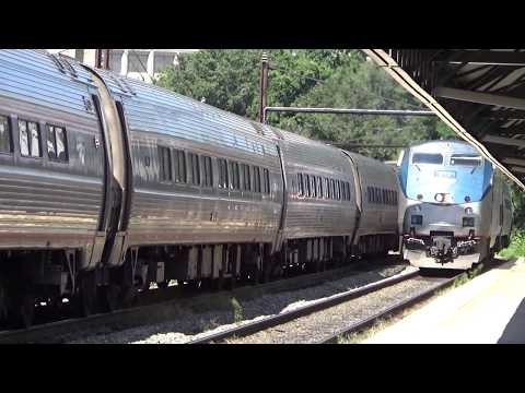 Two hours worth of Amtrak and CSX trains at L'Enfant Station, Washington DC