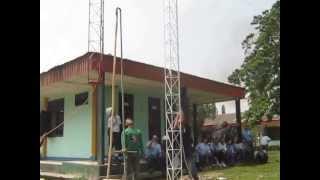 Pemasangan Tower Triangle Team CV.Triangle Mandiri di PMKS Aek Nabara PT.SMA Asian Agri