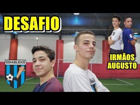DESAFIO DO CRUZAMENTO - 100 Habilidade x Irmãos Augusto - DESAFIOS DE FUTEBOL