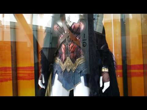 """""""Wonder Woman"""" set costume on display @ The Arc Light Theater in Hollywood"""