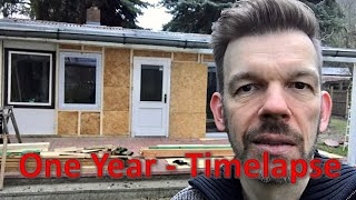 Renovating an abandoned Tiny House #31: One Year timelapse