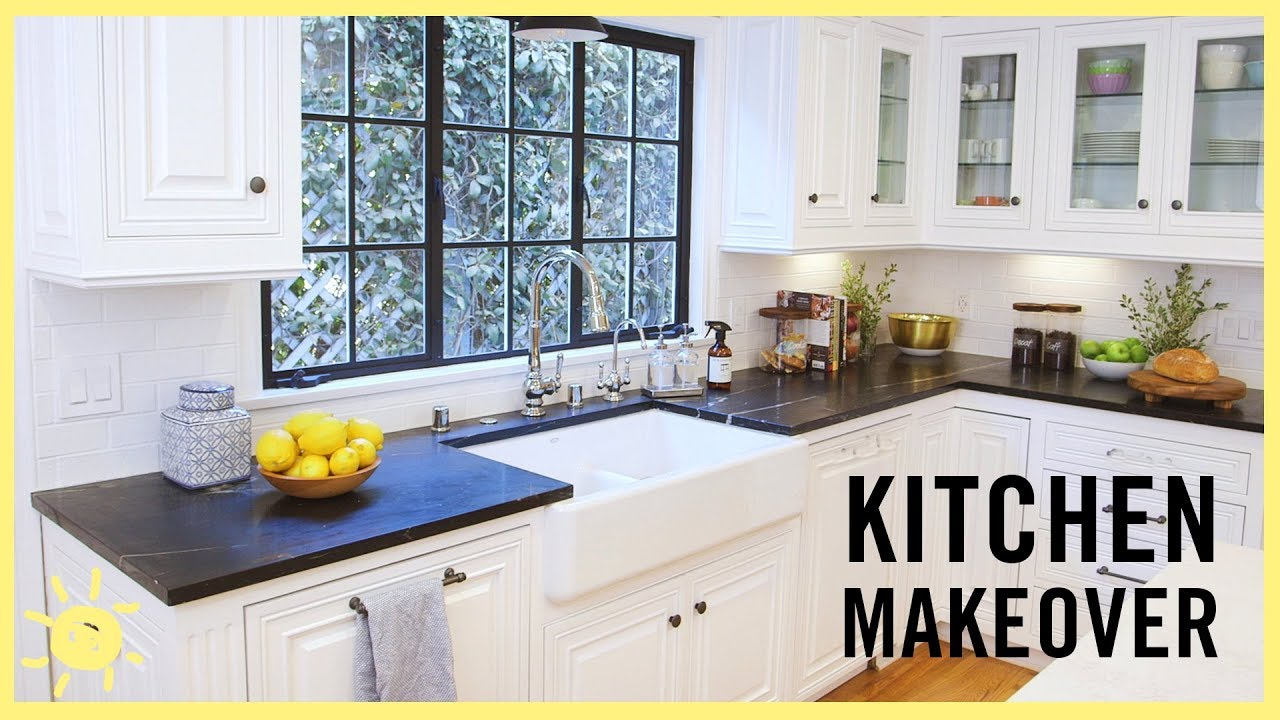 Complete Kitchen Teak Cabinets Eat Makeover Youtube