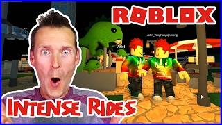 Construindo passeios intensos com amigos/Roblox Theme Park Tycoon 2