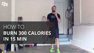 How to Burn 300 Calories in 15 Minutes with a Jump Rope [Crossrope]