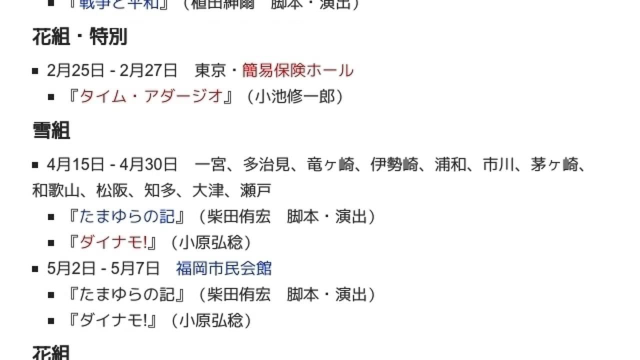 1989年の宝塚歌劇公演一覧」とは...
