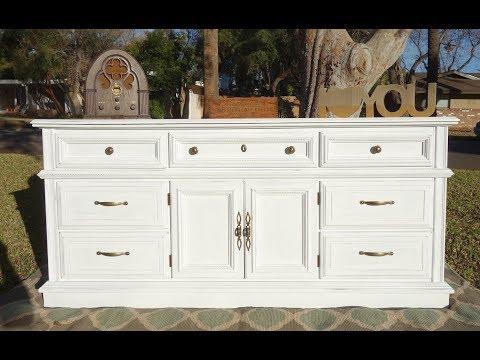 Furniture Makeover: Large white dresser Do it yourself DIY