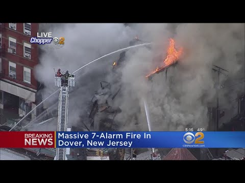Crews battle 7-Alarm Fire In New Jersey