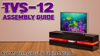 TVS-12 Assembly Guide Video - AVC TV Stand with LED Lights