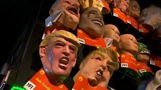 شاهد: إقبال كبير على شراء أقنعة ترامب للاحتفال بالهالوين في أمريكا…