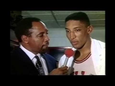 Scottie Pippen Post Game Interview With Steve Jones (5-16-1990)
