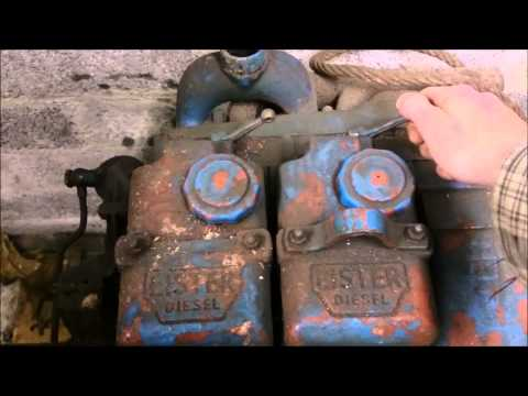 Lister ST2 first start in 15+ years hand crank 12hp 1500rpm diesel 1270cc