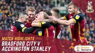 MATCH HIGHLIGHTS: Bradford City 3-0 Accrington Stanley