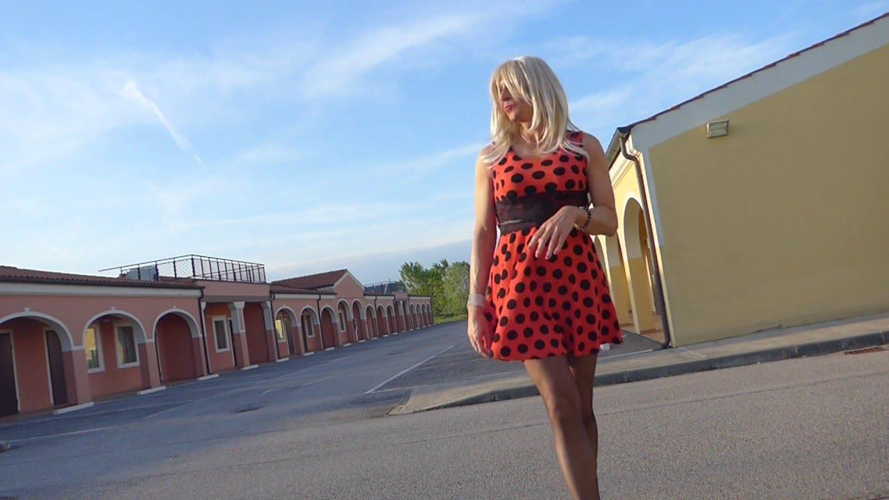 Crossdresser Ana - Going outdoor day 37 - YouTube
