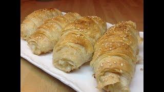 Peynirli Kruvasan Börek Tarifi -Hamur İşleri