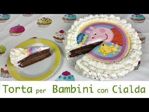 Torta Per Bambini Con Cialda Youtube