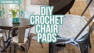 DIY Chunky Crochet Chair Pad Tutorial