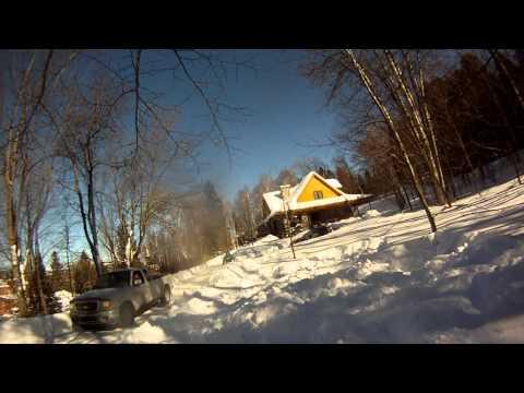 Side flip on ski