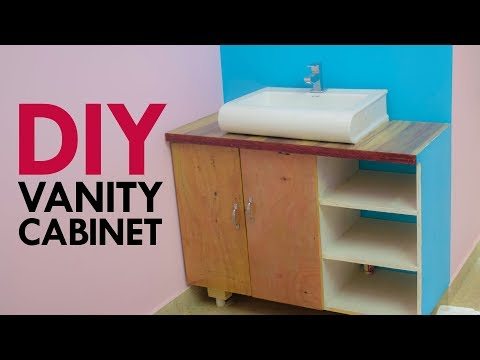 DIY Vanity Cabinet Making for Table Top Wash Basin | Woodworking with Plywood