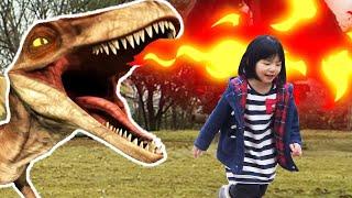 恐竜!! タイムトリップしちゃった!? ごっこ遊び
