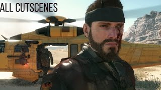 all cut scenes with custom character metal gear solid v the phantom pain