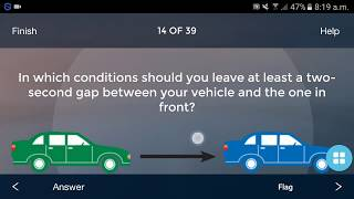 Driving Theory Test Questions and Answers 2018