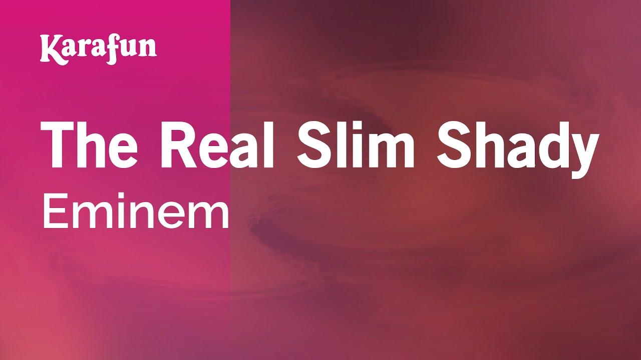 The Real Slim Shady - Eminem | Karaoke Version | KaraFun