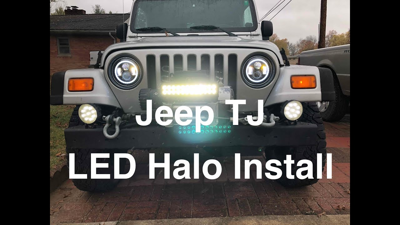 Jeep Tj Halo Headlights Install