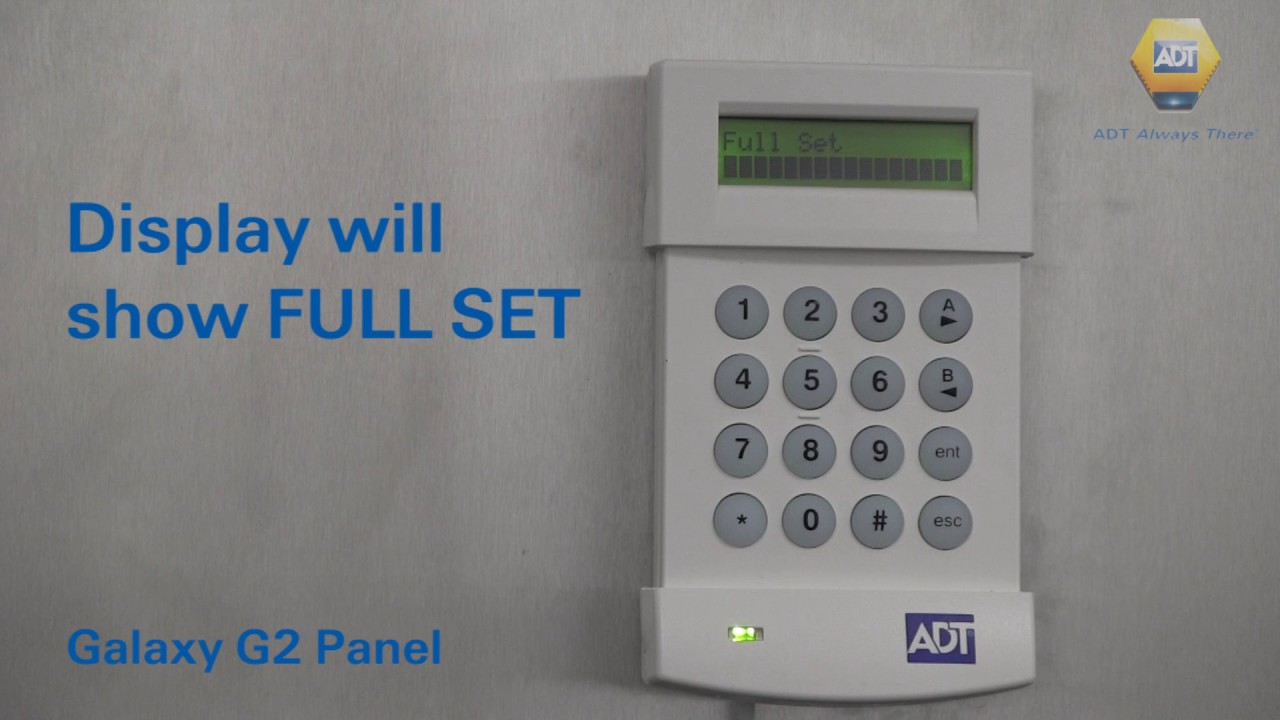 How To Set Your Alarm Using A Code Galaxy G2 Panel Adt Uk Youtube Wiring Diagram