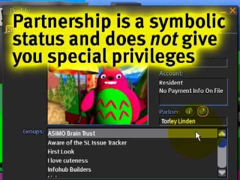 Adding & divorcing a Partner - Second Life Video TuTORial QU