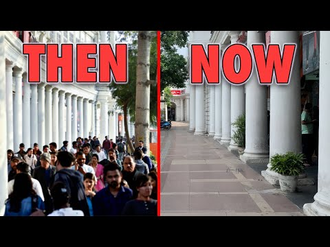 Connaught Place Delhi Before Lockdown vs After Lockdown