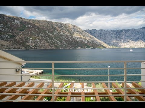 Luxury seafront villa for sale in Stoliv, Boka Bay - Real Estate Montenegro