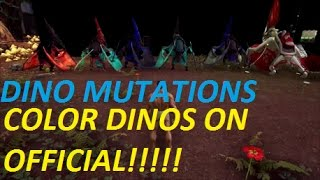 Ark Survival Evolved Dino Mutations - Color Dinos On Official Servers - How To Get Mutations