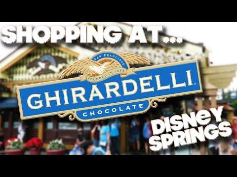 SHOPPING AT - GHIRARDELLI CHOCOLATE - DISNEY SPRINGS - ORLANDO