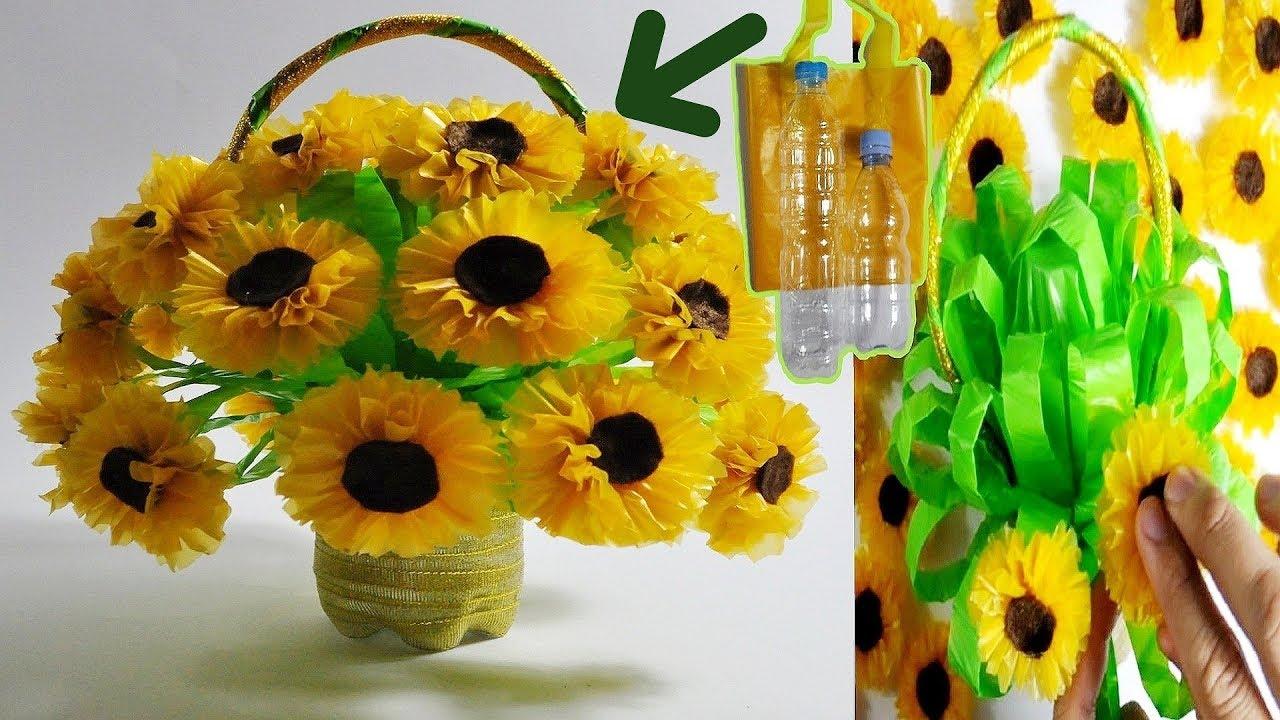 Cara Membuat Bunga Dari Karung Beras Dan Kantong Plastik Ide Kreatif Membuat Kerajinan Tangan Youtube