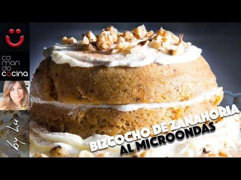 BIZCOCHO DE ZANAHORIA AL MICROONDAS fácil y rápido I Comando Cocina