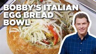 Bobby's Italian Egg Bread Bowl | Food Network
