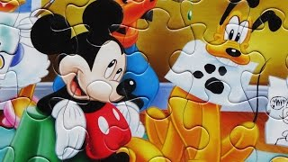 Puzzle Mickey Mouse Clubhouse Games For Kids Jigsaw Rompecabezas Learning Toys Pluto Donald Goofy