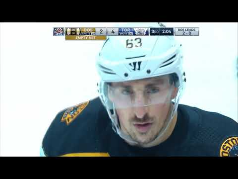 Andersen HUGE Save and Rielly-Marchand Scrum - Toronto Maple Leafs vs Boston Bruins Game 3 4.16.18