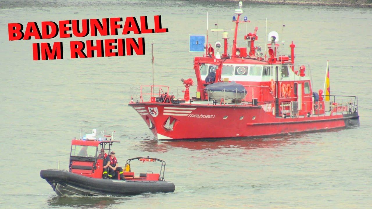 [GROSSEINSATZ IN DÜSSELDORF] - 18-jähriger beim Baden im Rhein untergegangen & wird seitdem vermisst