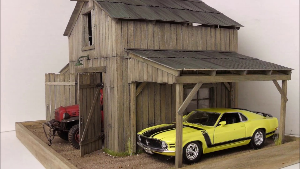 1 24 1 25 barn garage diorama for sale on ebay youtube for Single garages for sale