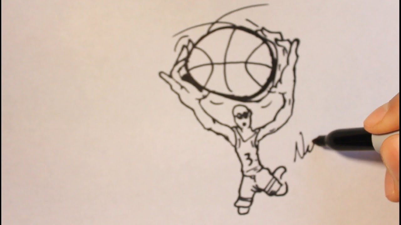 how to shoot a basketball outline
